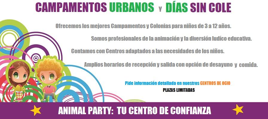 Campamentos Urbanos de verano, navidad, semana santa, Colonias y Días sin Cole. Para niños de 3 a 12 años, profesionales de la animación en Valladolid