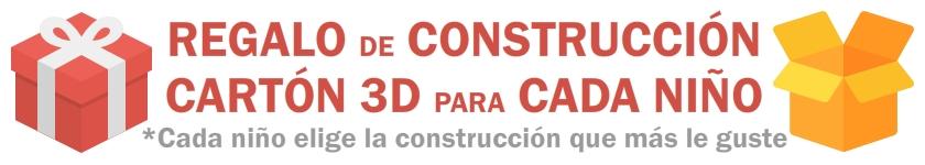 cumpleaños infantil construcción cartón 3d