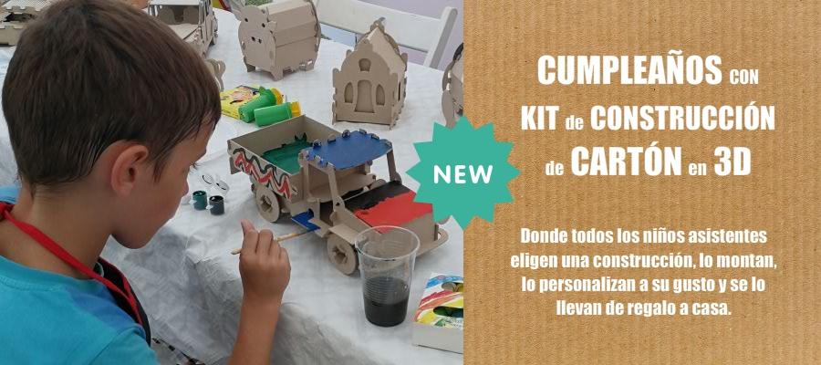 Cumpleaños Construcción Cartón 3D en Oviedo